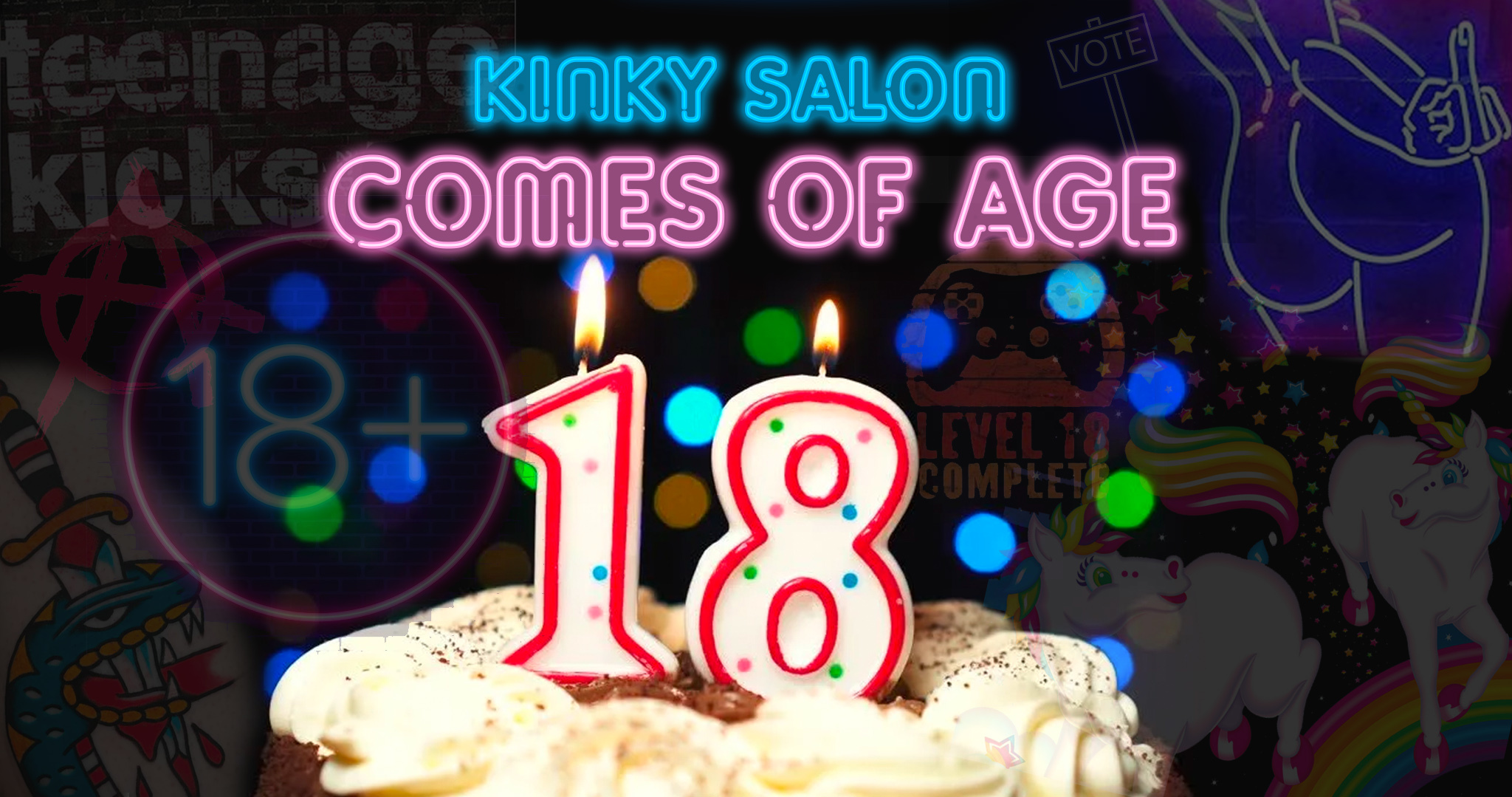 Kinky Salon Coming of Age 18 Year Anniversary